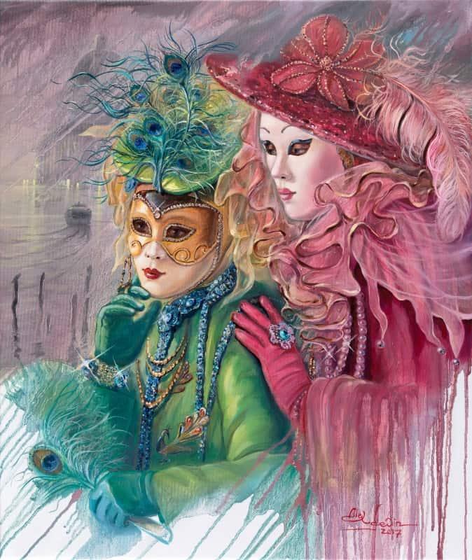 Original Oil Painting: Venetian Fairies