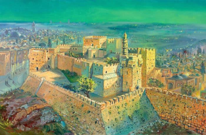 Original Oil Painting: The Heavenly Jerusalem