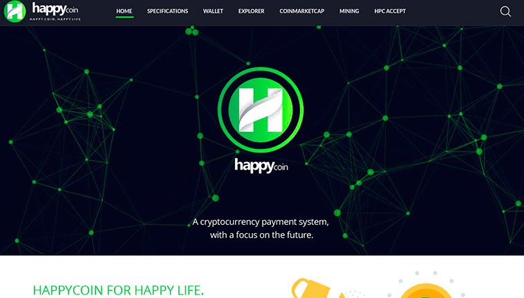 HappyCoin responsive design preview