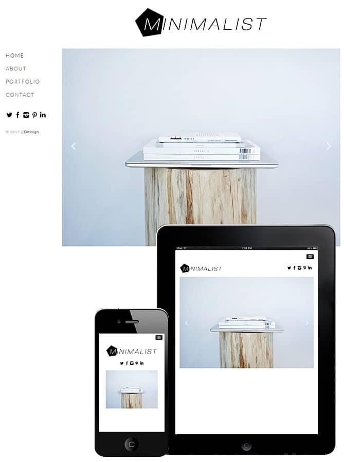 free minimalist wordpress theme