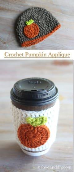 10 minute crochet pumpkin applique