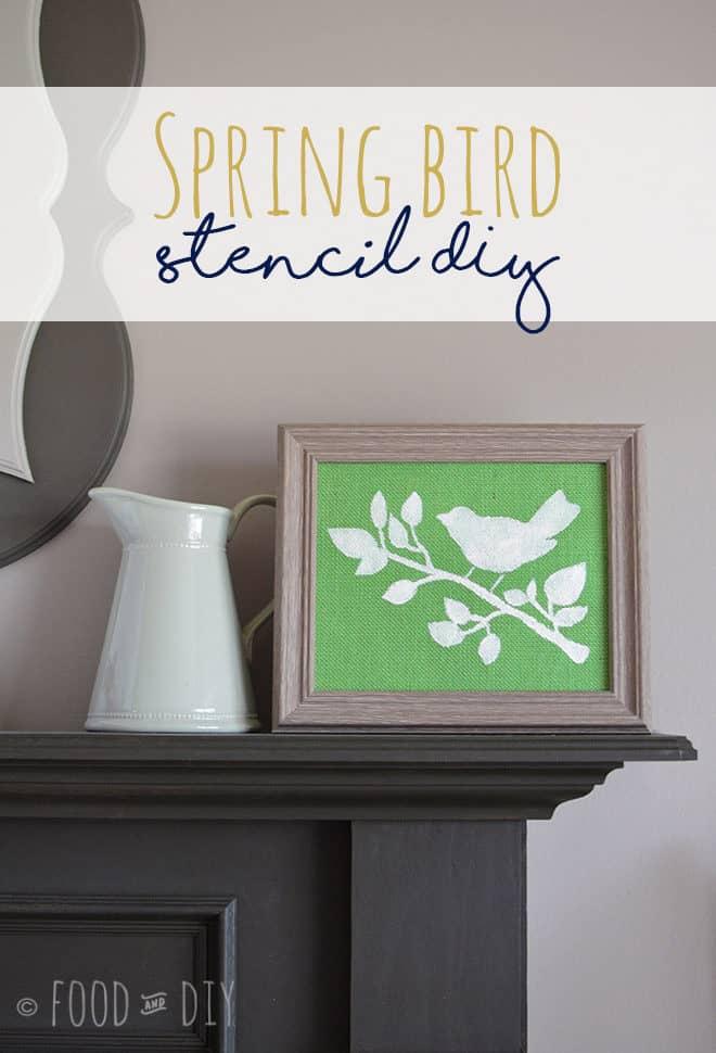 Spring Bird Stencil DIY