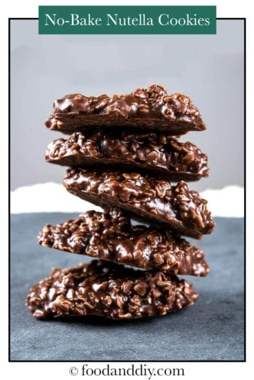 Chocolate Oatmeal No Bake Cookies with Nutella