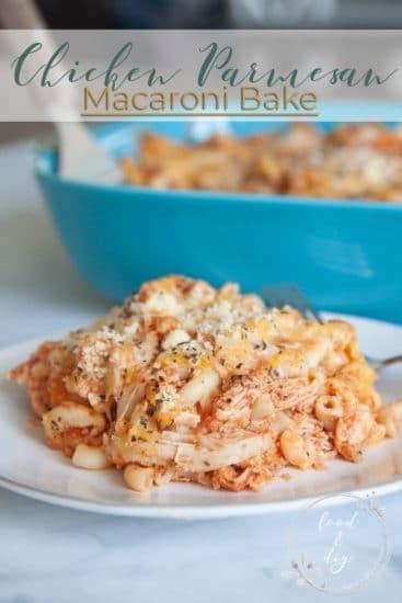 Chicken Parmesan Macaroni Bake