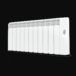 Rointe Kyros 11 element short conservatory smart timer aluminium oil filled radiator in white