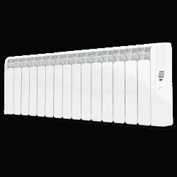Rointe Kyros 15 element short conservatory smart timer aluminium oil filled radiator in white