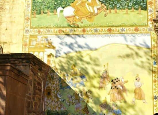 Mehrangarh Wall paintings 2