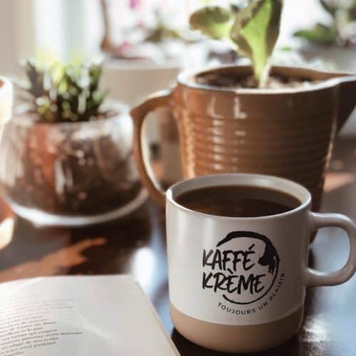 café, tasse, kaffé krème