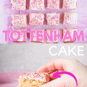 Pinterest image for Tottenham Cake recipe