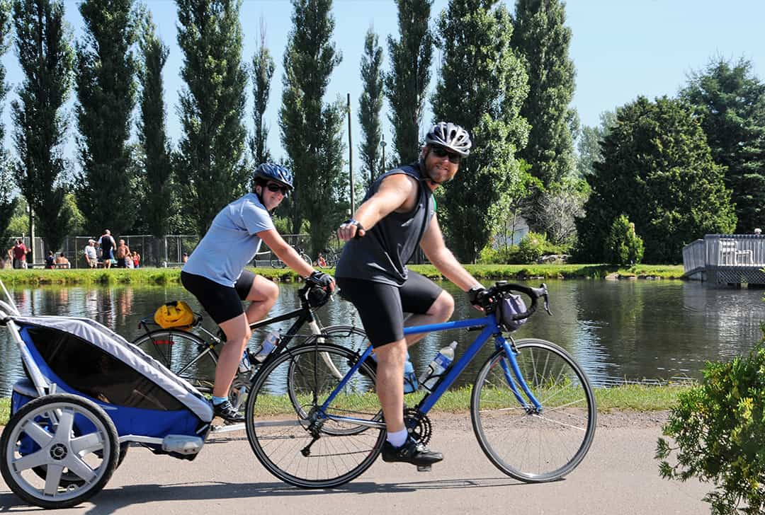 Ideal place for cyclists at Camping Lac-Saint-Michel