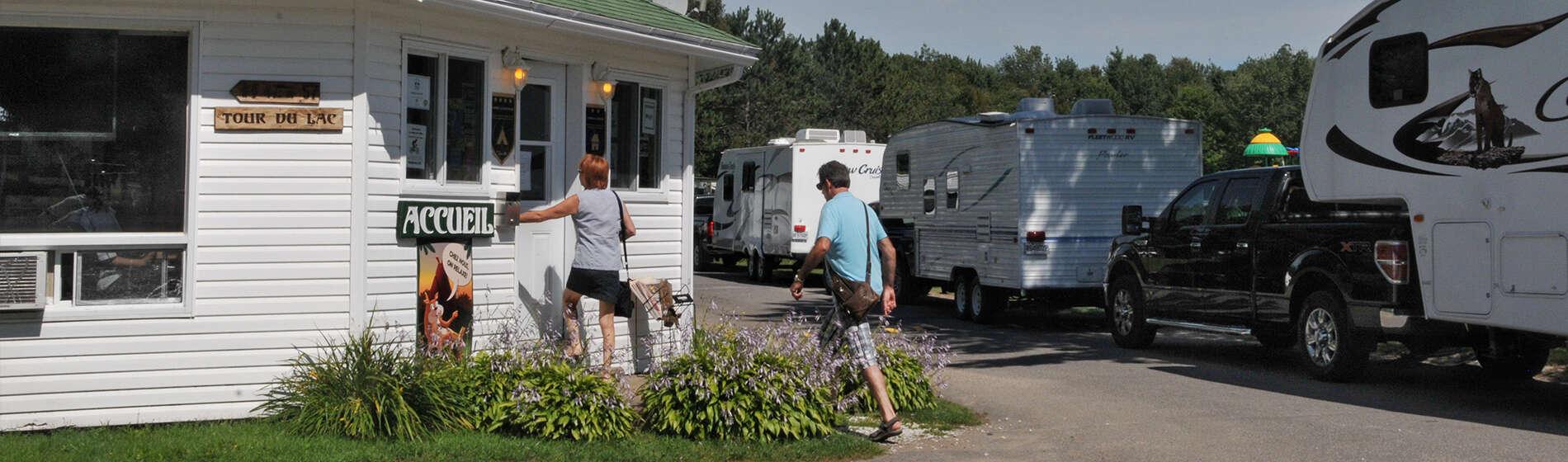 Contactez l'équipe du Camping Lac-Saint-Michel en Mauricie