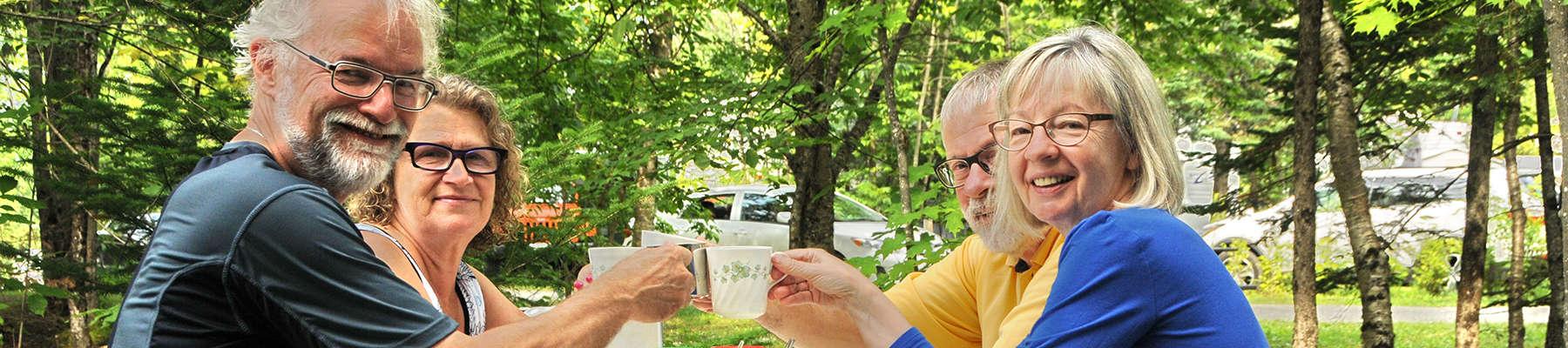 Camping Union, Camping Lac-du-cerf, idéal entre amis et famille
