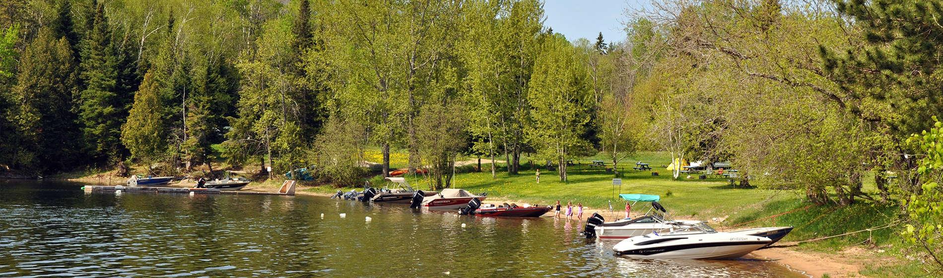 Camping Union - Camping Lac-du-Cerf dans les Hautes-Laurentides