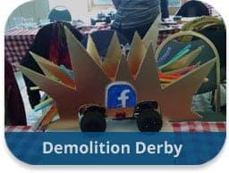 team building activities construction challenges demolition derby