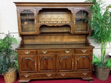 Large Temple Stuart Maple Hutch Cabinet