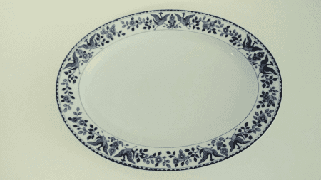 "Nippon ""Royal Sometuke"" Large Serving Platter"