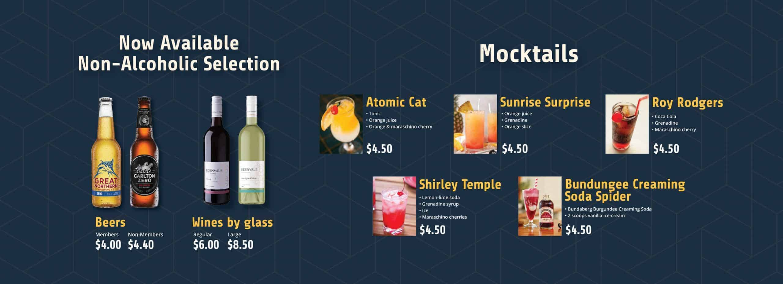 Non-Alcoholic-drinks Morwell Bowls