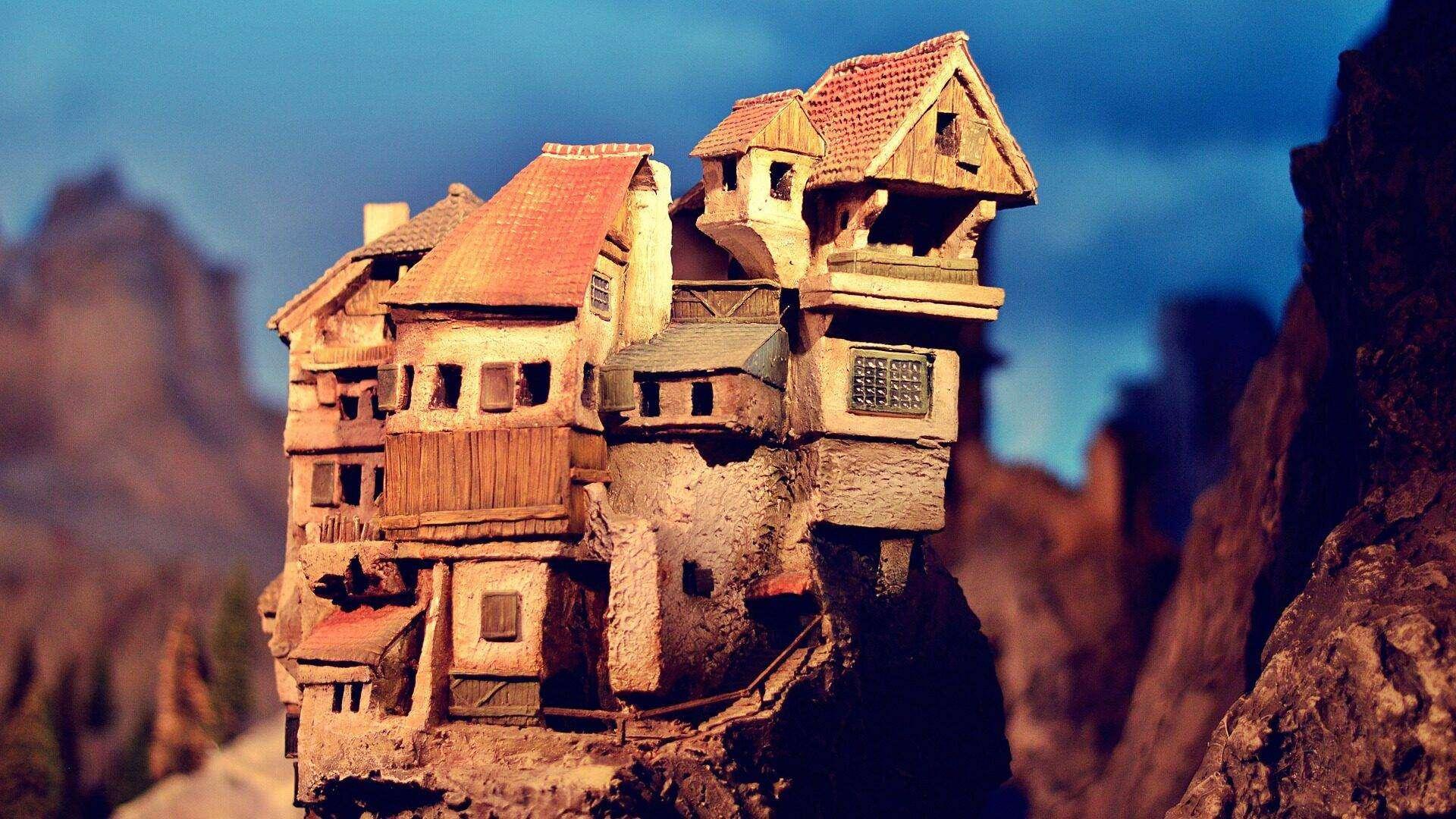 Toerisme Omgeving Ariège Middeleeuws dorp