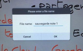 Nommez votre sauvegarde cloud depuis un écran interactif