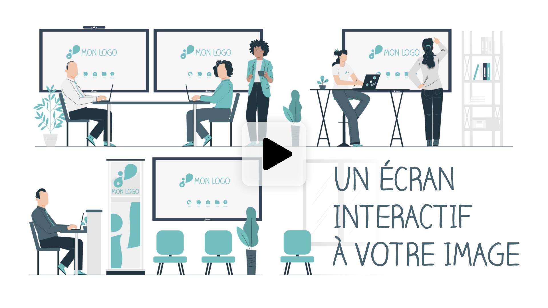 rendre son écran interactif personnalisable en vidéo