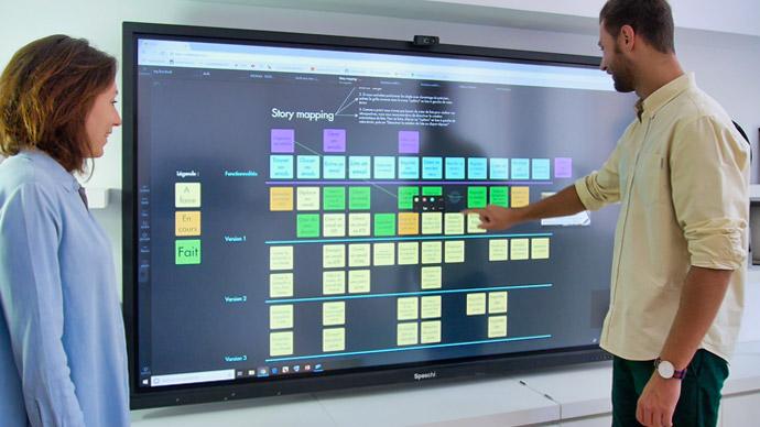 écran de visioconférence