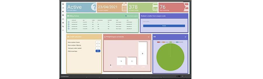 logiciel de gestion à distance des écrans interactifs